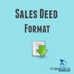 Sales Deed Format
